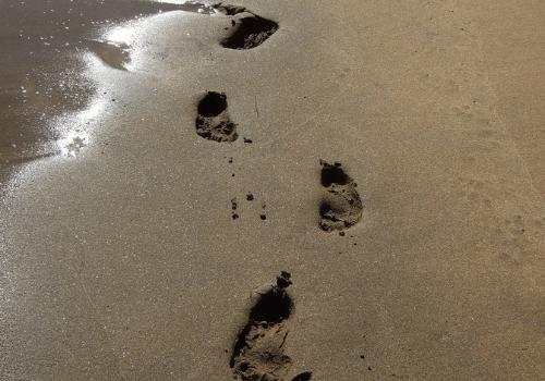 la vocazione come orme sulla spiaggia